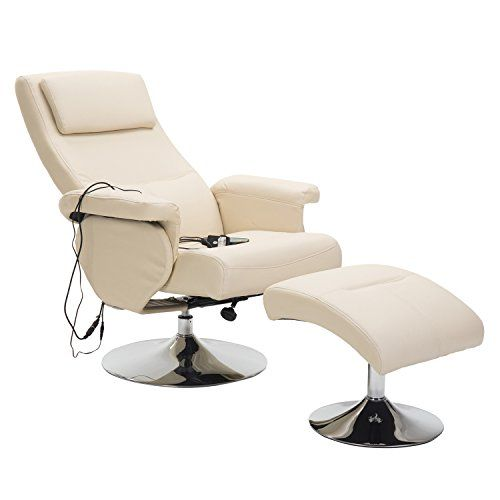 Homcom Fauteuil De Massage Et Relaxation Electrique Chauffant Pivotant Inclinable Avec Repose Pied Fauteuil De Massage Fauteuil Design Fauteuil Repose Pied