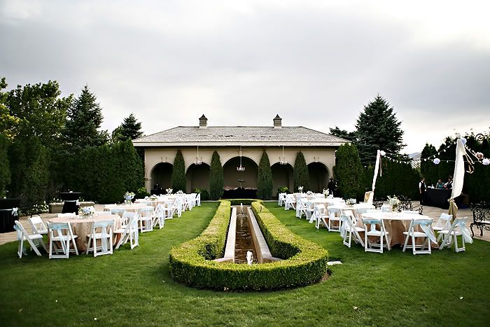 our reception at the loggia a garden at thanksgiving point weddings pinterest gardens