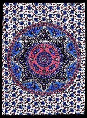 Elephant Mandala Indio Hecho a Mano Colgante De Pared Póster de algodón cubierta de tabla Cartel