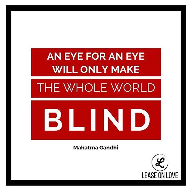 eye eye and soon world blind gandhi An eye for an eye makes the whole world blind - mk gandhi - small bumper sticker / decal (575 x 15).