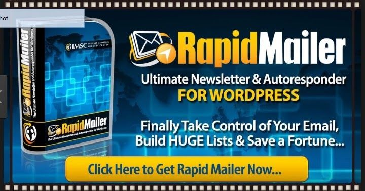 http://ift.tt/2hcaF9t ==>  Rapid Mailer Review - Does It Work?Build Huge Lists Skyrocket Your Profits  Rapid Mailer Review : http://ift.tt/2wplbVk So what is it? IMSC Rapid Mailer is an autoresponder thats a WordPress plugin that allows you to manage your customer (or potential customer) list yourself. There is no need to pay for third party autoresponders or pay monthly fees. Created by Sean Donahoe and released in April 2014.  Rapid Mailer Review: http://ift.tt/2wplbVk What does it do?…