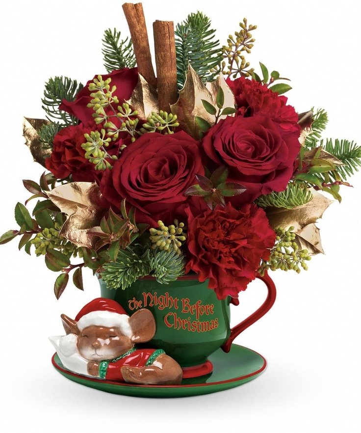 429 Best Christmas Flower Arrangements Images On Pinterest