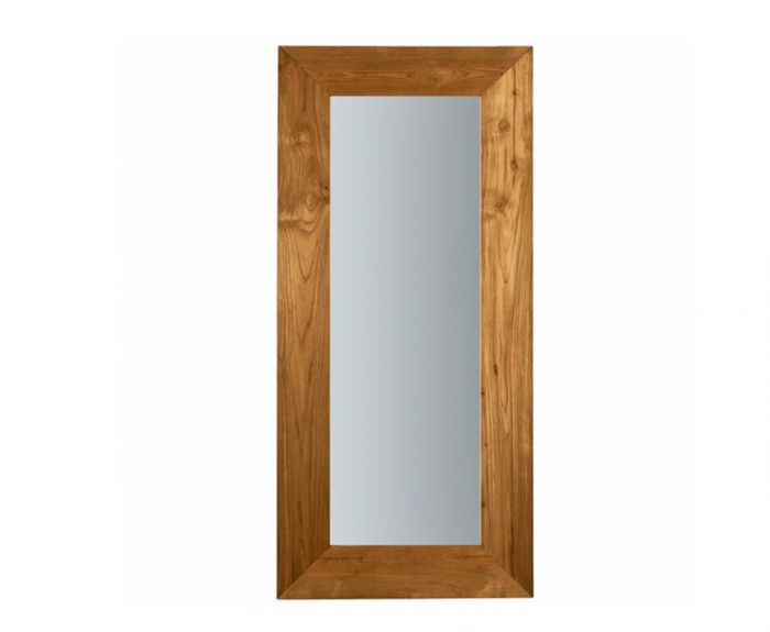 Large leaning mirror from Ethnicraft Teak Mirror, Remodelista