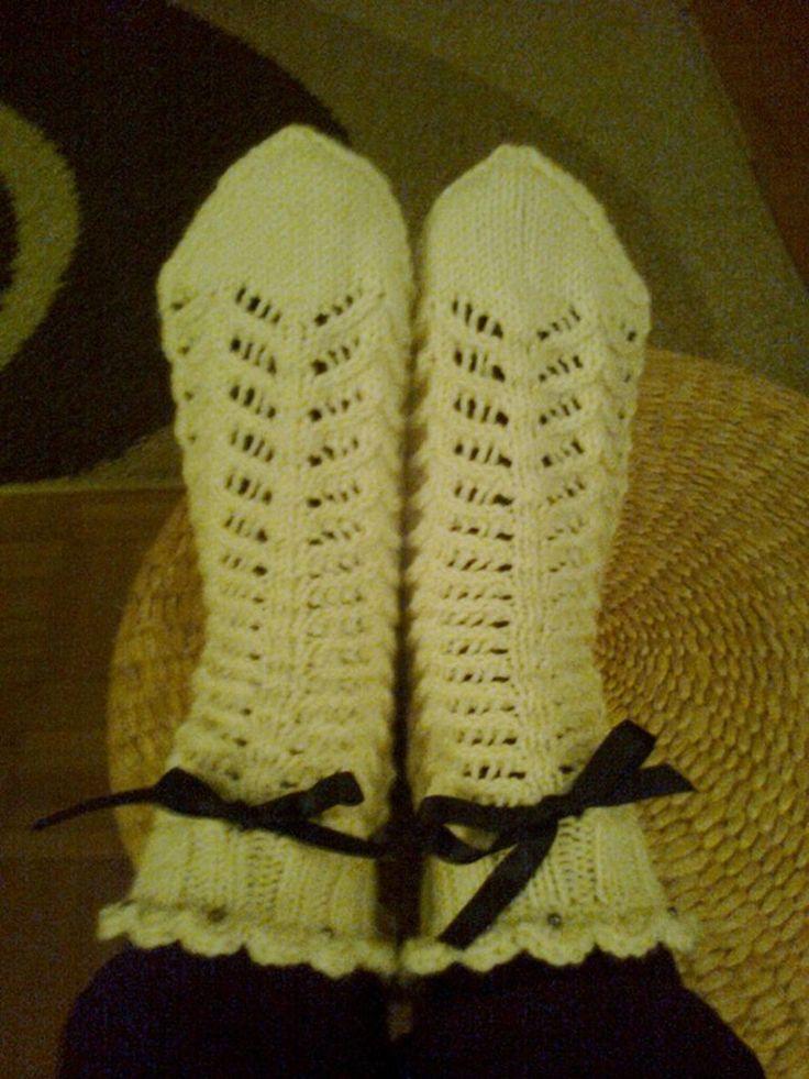 Pitsilliset villasukat menivät jo edellisenä Jouluna lahjaksi.Kaiditegu