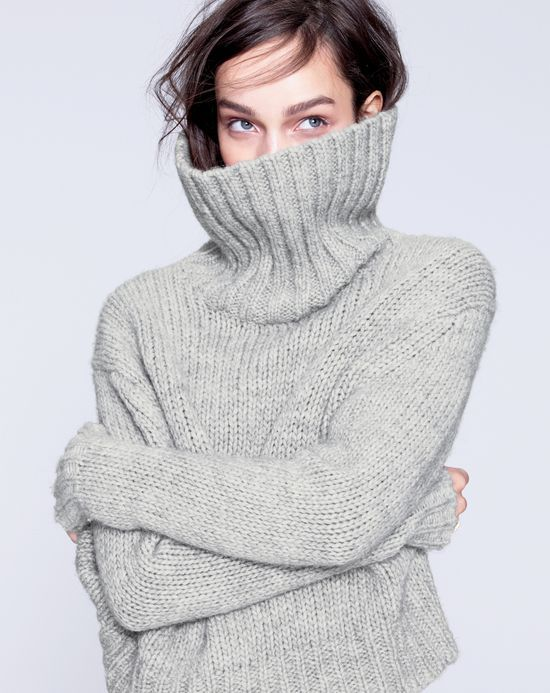 Chunky turtleneck sweater | J.Crew – might be time to bring back the turtleneck