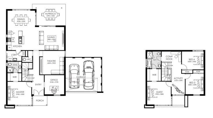 35 best proyecto casas images on Pinterest Floor plans, House - plan maison plain pied 80m2