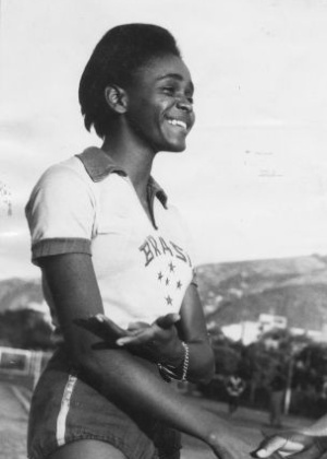 Aída dos Santos is an ex-Olympic athlete in the high jump. In the 1964 Olympic Games in Tokyo, she was Brazil's only female competitor of 69 athletes. She didn't have a coach and didn't even have clothes for the Opening Ceremonies. She was given clothes from another competition. In finishing in 4th place and nearly capturing a bronze medal, she became the 1st Brazilian woman to compete in an Olympic final.