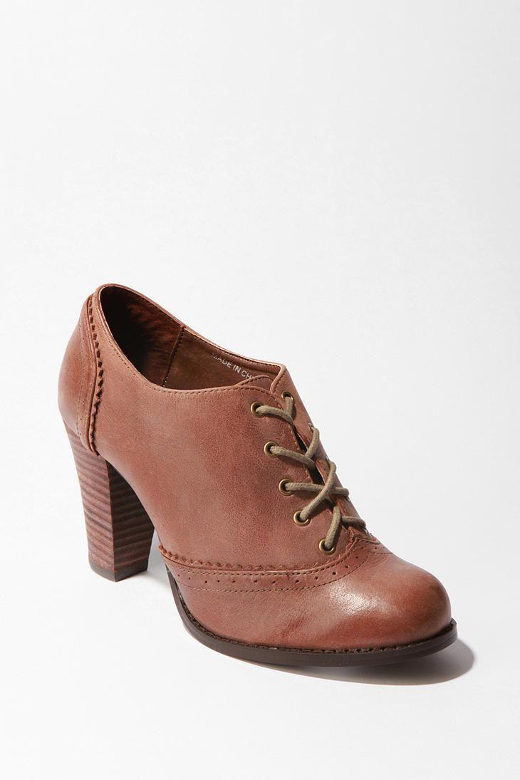 heeled oxfords
