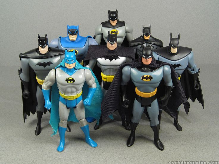 Evolution of Batman figures.   http://4.bp.blogspot.com/-ygDIjRoz7MA/TvvHR3jFpOI/AAAAAAAALq4/eRMpNss6FOQ/s1600/batman0.jpg
