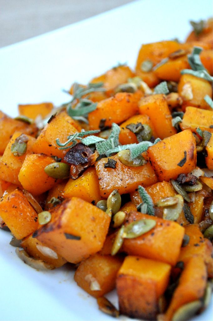 Roasted Pumpkin Seed & Sage Butternut Squash | Fed and Fit #paleo