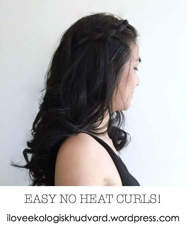 Jag delar med mig två enkla sätt att locka håret utan värme och slitage! In och läs i bloggen https://iloveekologiskhudvard.wordpress.com/2015/08/14/locka-haret-utan-varme/ #curlhair #curlyhair #noheat #hairdo #hairstyle #hairstyling #hairtutorial #lockahåret #lockigthår #utanvärme #frisyr