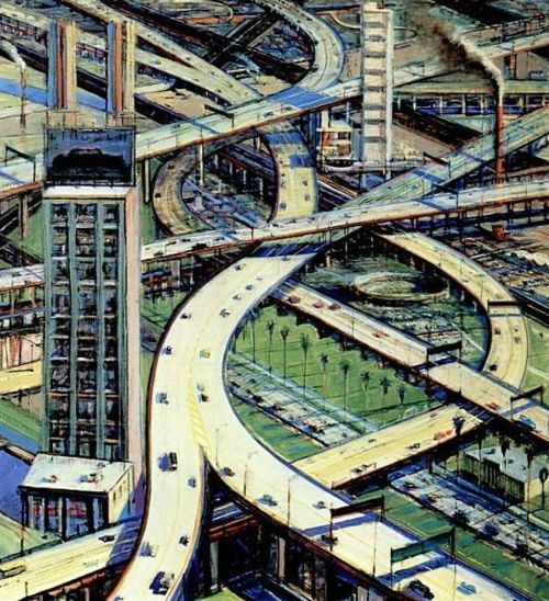 Wayne Thiebaud. Urban Freeways. 1979.