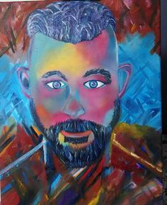 "My oil painting Ragnar Lothbrook ""Vikings"""