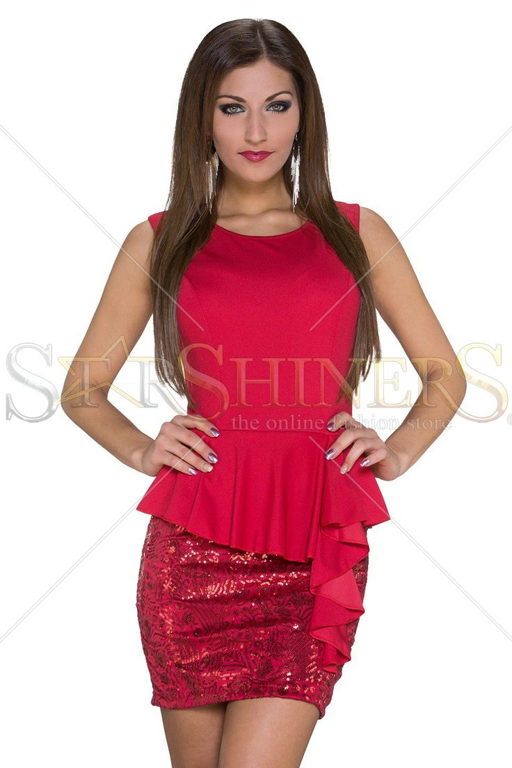 Shiny Hips Red Dress