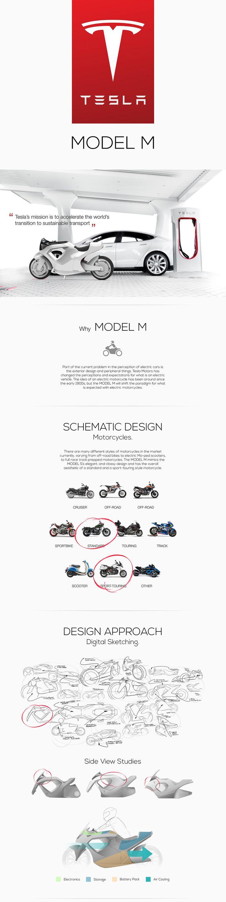 Tesla Model M - Concept Design Motorcycle