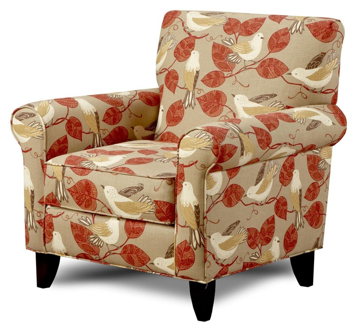 Songbird Paprika Accent Chair By Fusion Furniture Homey