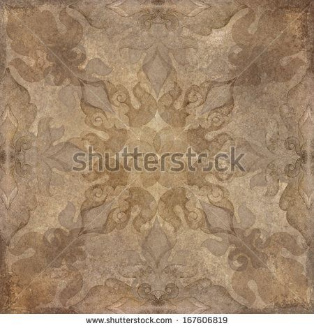 vintage aged paper background with oriental pattern