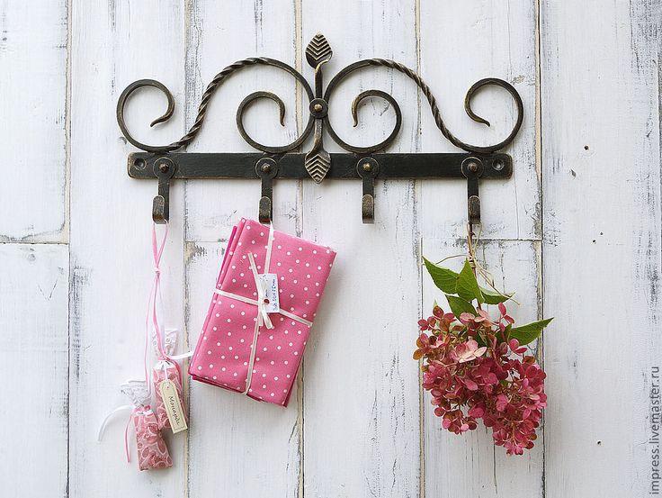 Купить Декоративная вешалка - чёрно-белый, предметы интерьера, крючки, декоративные крючки, Вешалка для полотенец