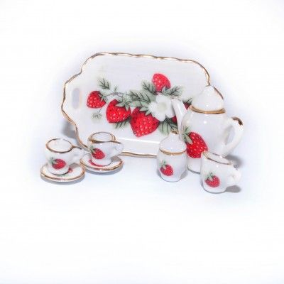 Minimum+World+D2099+Strawberry+Tea+Set+with+Tray