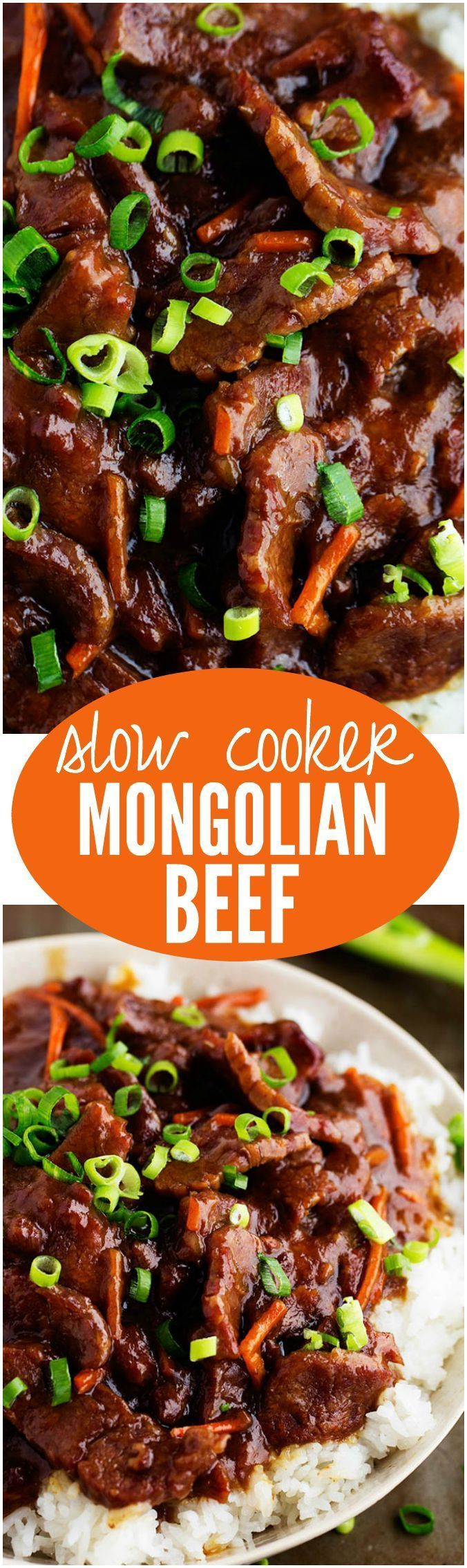 This Slow Cooker Mongolian Beef is melt in your mouth tender and has AMAZING flavor! One of the best and easiest things to make on weeknights
