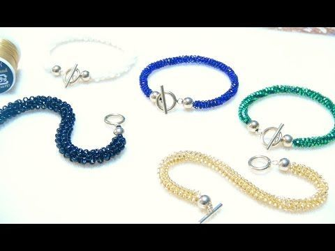 シードビーズで作るブレスレットの作り方 留め具の無いタイプ ビーズステッチ(ペヨーテステッチ) Seed beads Bracelet DIY - YouTube