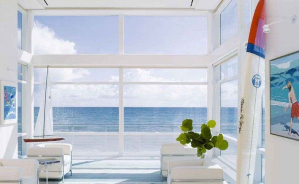 Beach House Living Room Design By Hughes Architects 600×369 - pictures, photos, images