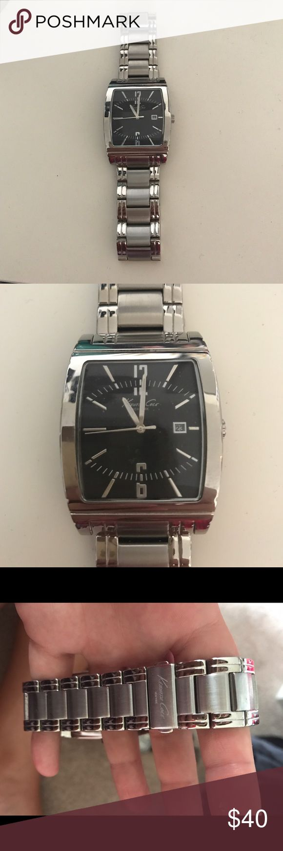 Kenneth Cole Mens Silver Watch Great watch great condition. Kenneth Cole makes this watch Kenneth Cole Accessories Watches