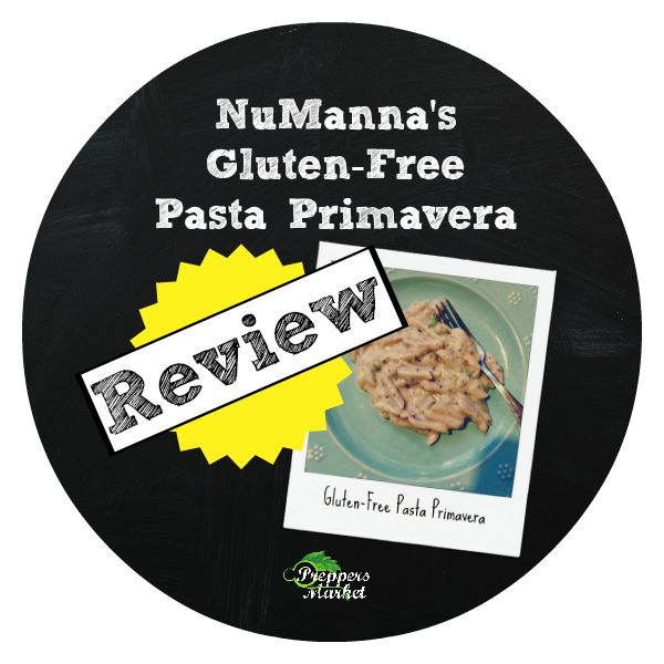 Are you looking for gluten-free emergency food? Review of NuManna Gluten-Free Pasta Primavera #glutenfree #prepper #emergency #numanna