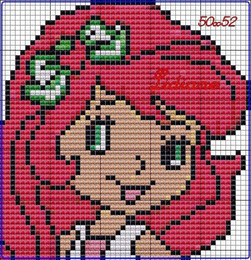 Strawberry Shortcake perler bead pattern