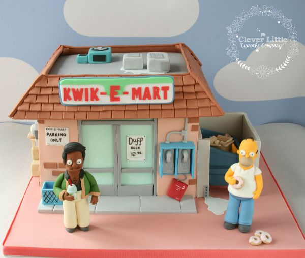Incredibly Detailed 'Simpsons' Cake Takes Us To The Kwik-E-Mart