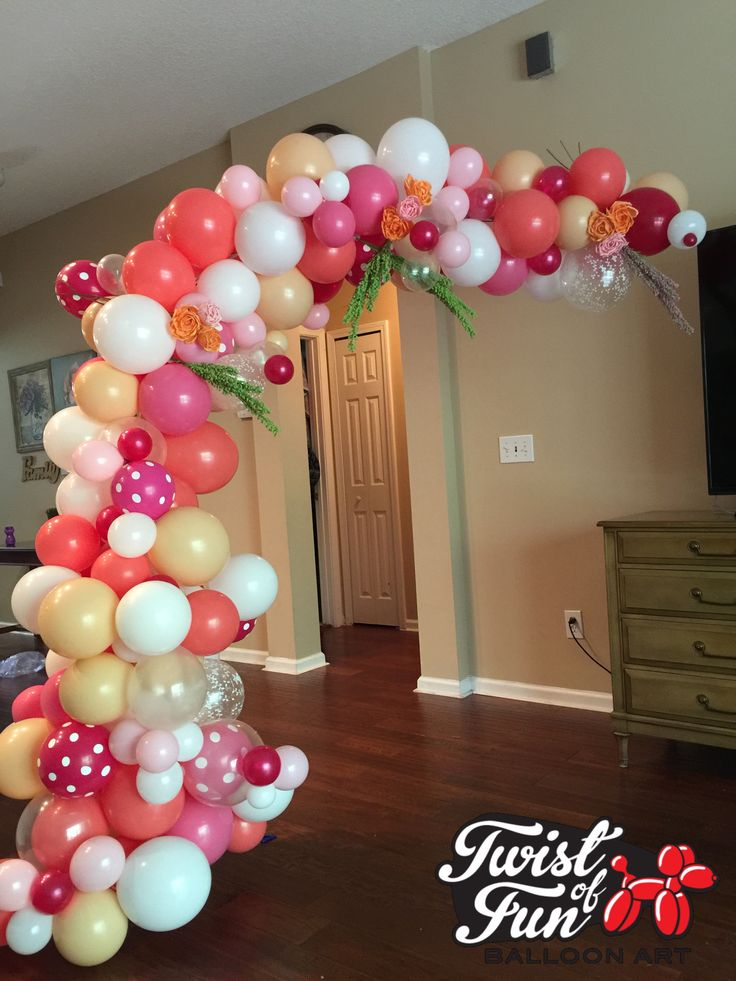 Organic balloon garden arch balloon art pinterest for Balloons arrangement decoration