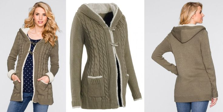 NOVÉ ,,KRÁSNÝ velmi teplý svetrový kabátek s kapucí vel.46+ :: AVENTE ...móda s nápadem