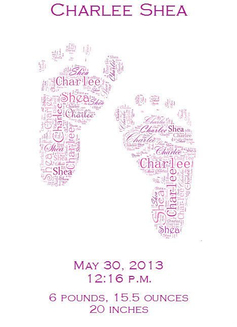 Use Any Shape- Typography Word Wrap Print 8.5 by 11- Custom Order, Any Name/Colors- Wedding/Anniversary/Baby