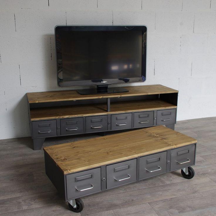 1000 id es sur le th me meuble tv roulettes sur pinterest for Table tv a roulettes