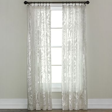sheer panel jcpenney pockets panels sheer curtains white curtains