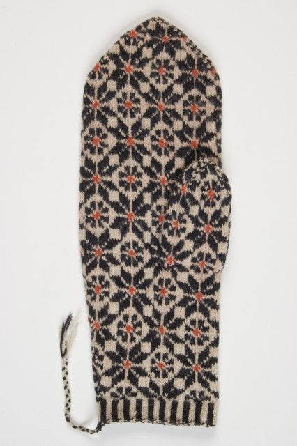 Old mitten from Estonia, probably from Märjamaa district