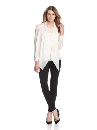 -37,400% OFF Les Copains Women's Layered Blouse (Ivory)