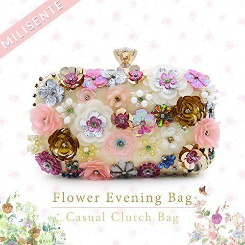 Clutch Purse for Women Flower Style For Evening Bag Wedding Coctail Colorful NEW #ClutchPurseforWomenFlowerStyle #Clutch