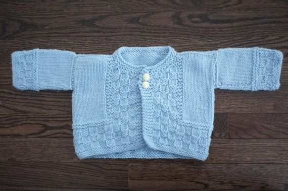Newborn baby sweater by Annyaknits on Etsy, $25.00