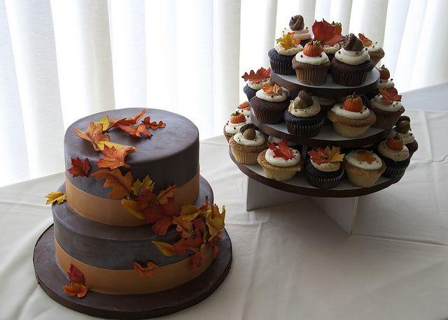 autumn wedding cake cupcakes toronto by www.fortheloveofcake.ca, via Flickr