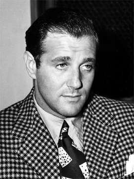 "Benjamin ""Bugsy"" Siegel (February 28, 1906 – June 20, 1947) was an American gangster who was involved with the Genovese crime family. Siegel was known to be mercurial and ruthless with associates. Because of his notoriously quick and violent temper, he was one of the most ""infamous and feared gangsters of his day"". On June 20 1947 as he sat reading the LA Times he was shot through the window several times. No one was ever charged with his murder."