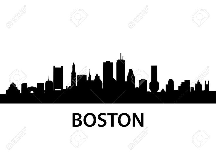 boston harbor skyline outline - Google Search