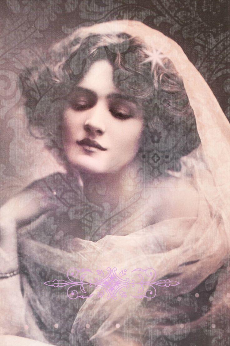 Vintage image altered art,Lily Elsie,actress,vintage art,vintage photo,Image…