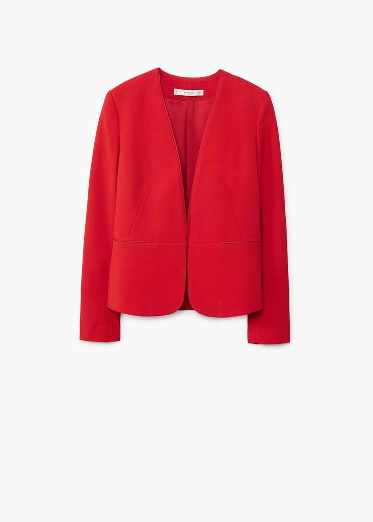 Contrasting trims blazer | MANGO