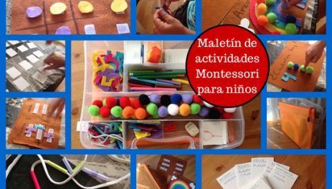 … del divertido maletín de actividades Montessori para niños casero (DIY)