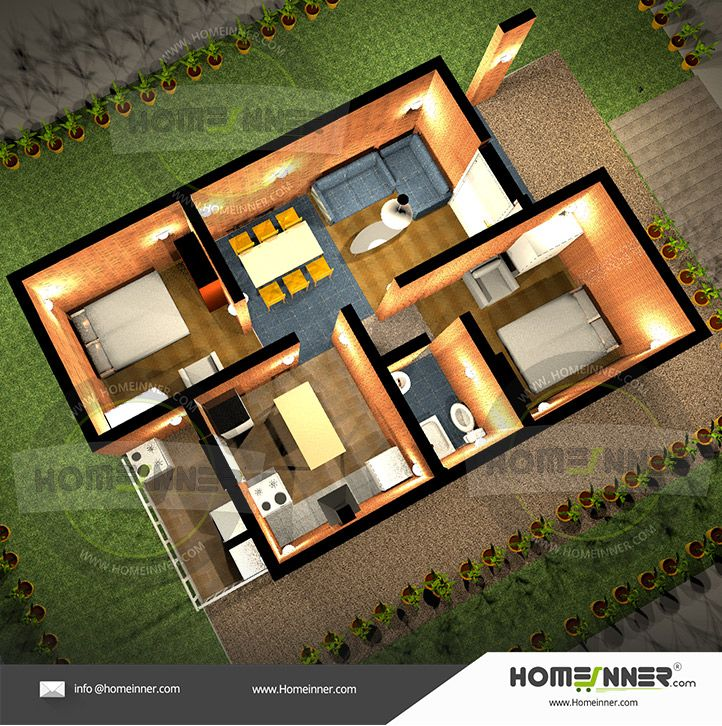 Free Simple Two Bedroom House Plans Homeinner Best Home Design Magazine Cool House Designs Bedroom House Plans Free House Plans Low budget house plan drawing