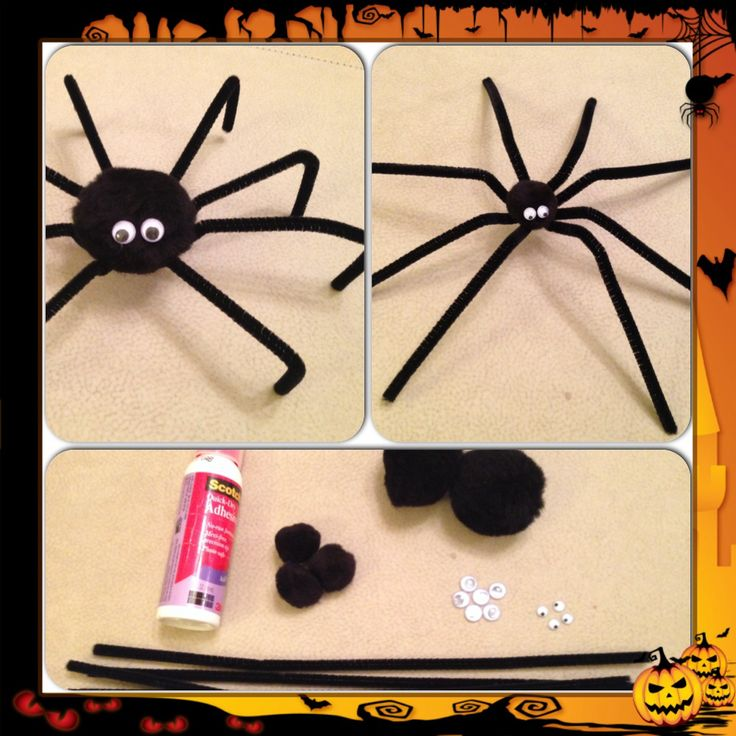 Halloween crafts - spiders