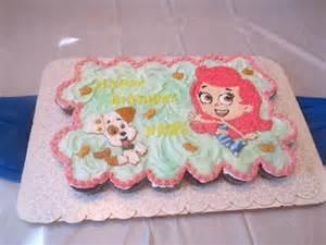 Bubble guppies sheet cake idea