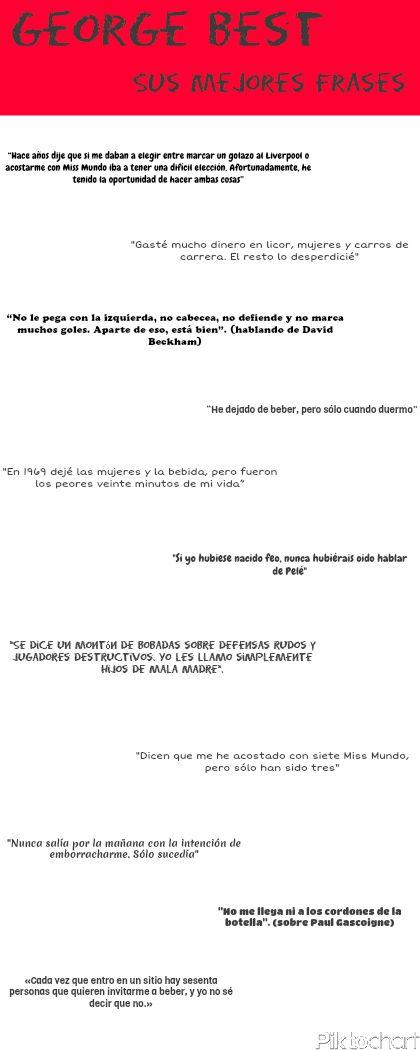 Las mejores frases de George Best #futbol #Frases #GeorgeBest http://diarioapuestasdeportivas.wordpress.com