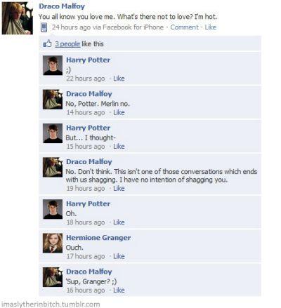 funny harry potter facebook conversations
